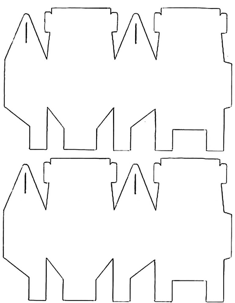 10 Sacolinhas de Papel para fazer Lembrancinhas com Moldes
