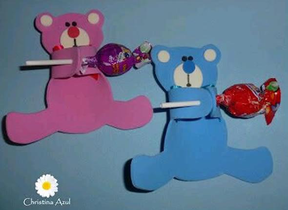 12 Lembrancinhas Lindas com Pirulitos para Festa Infantil