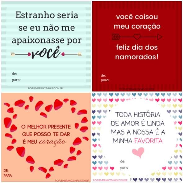 Cartões Dia dos Namorados para Imprimir
