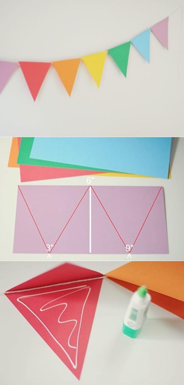 Fabuloso Como fazer Bandeirinhas de São João com Papel - Pop Lembrancinhas GU15
