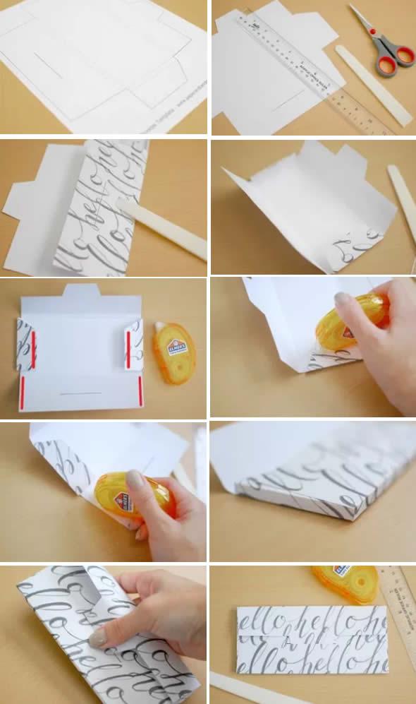 Molde para fazer Lindos Envelopes de Papel