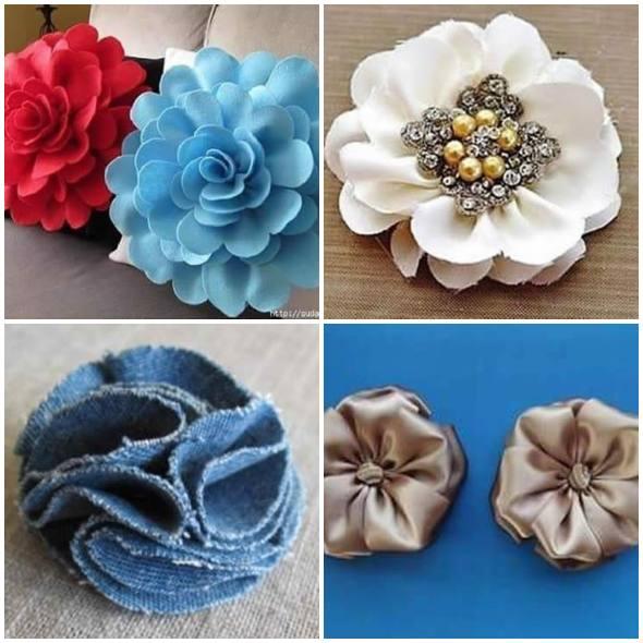 Como Fazer Flores De Tecido Passo A Passo Fácil Pop Lembrancinhas