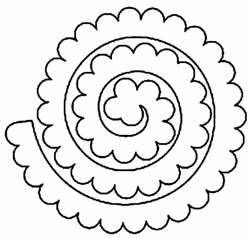 Molde para flor de feltro