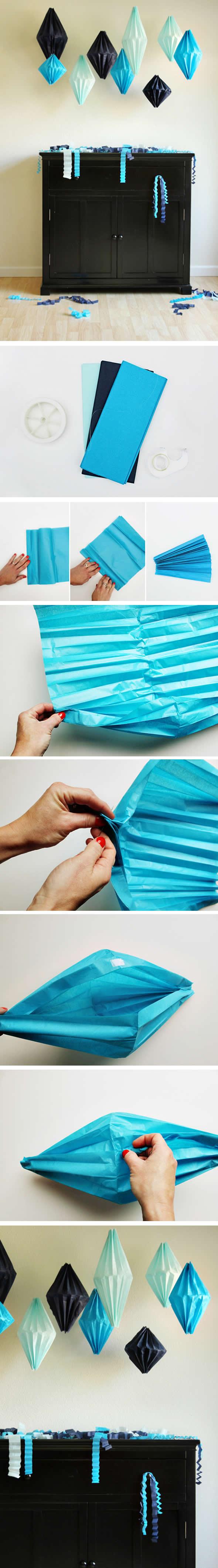 Como fazer Balão de Papel de Seda passo a passo