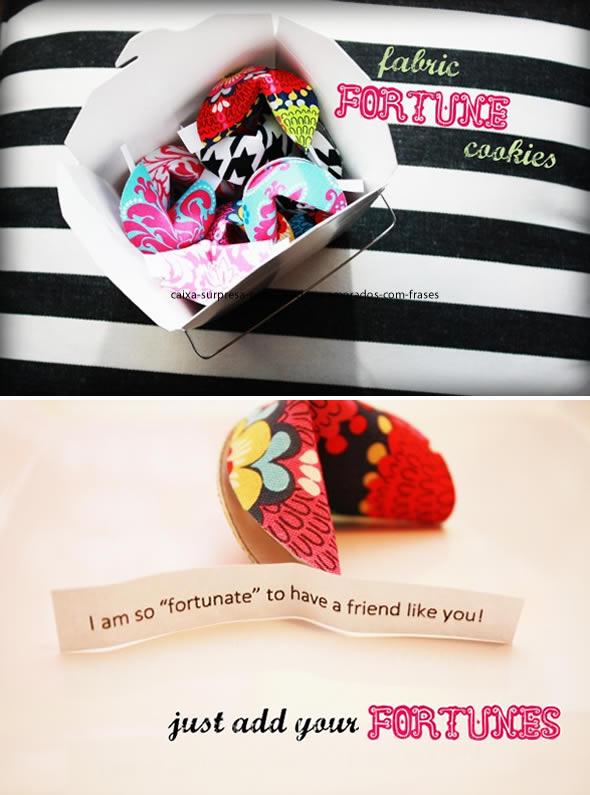 Caixa Surpresa para Dia dos Namorados com Frases