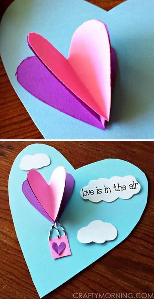 Decoração com Papel para o Dia dos Namorados