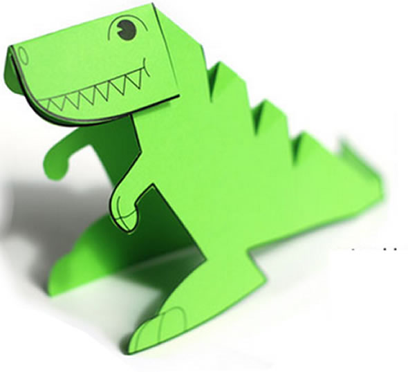 Dinossauro de Papel para Montar