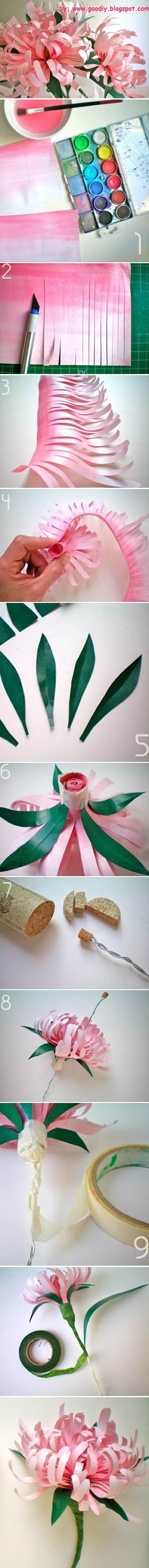 Como fazer Flor de Papel passo a passo
