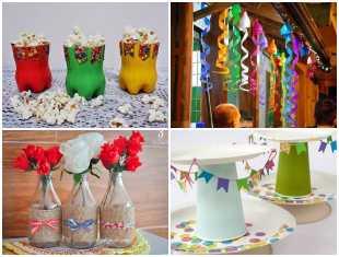 Decoração com Reciclagem para Festa Junina