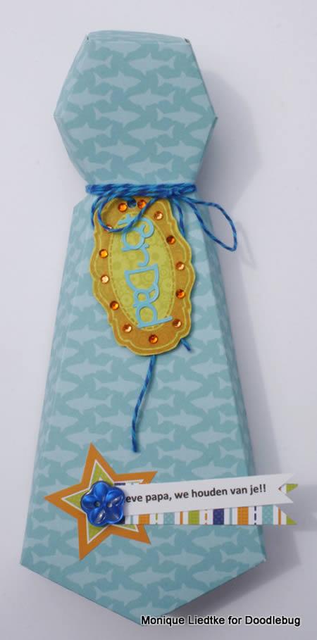 Caixinha Gravata para Dia dos Pais com Molde