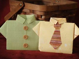 Lembrancinhas Camisas de Papel Dia dos Pais