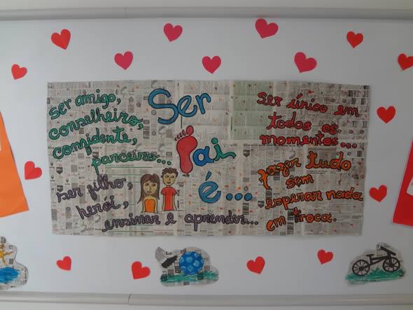 Mural para Dia dos Pais na Escola
