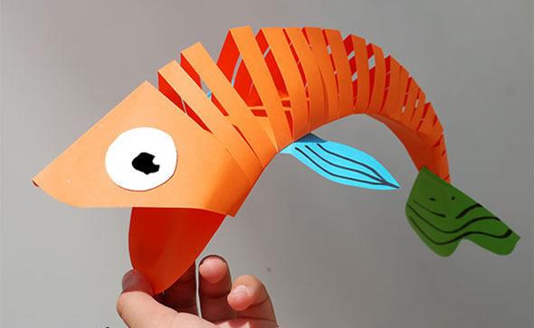 Peixe de Papel Articulado passo a passo
