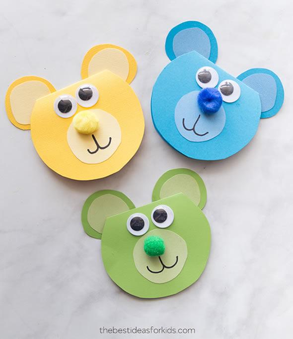 Ursinhos Pequenos de Papel para Lembrancinhas
