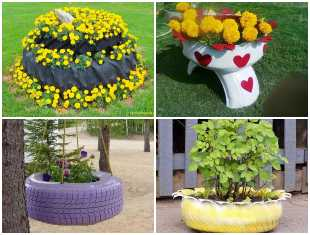 Lindos Vasos com Pneus para o Jardim