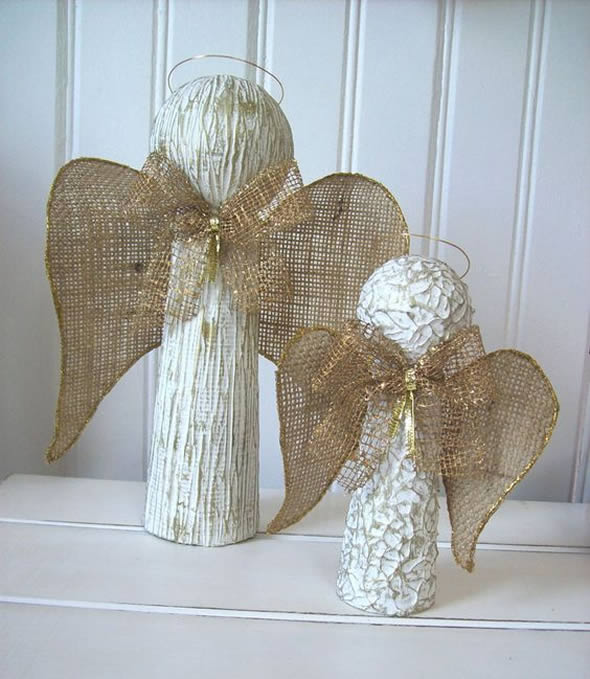 Anjinhos Lindos Feitos com Reciclagem