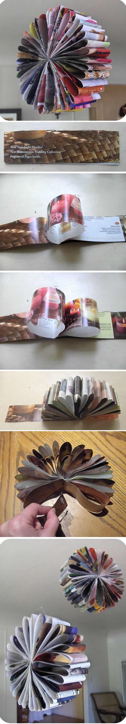 Artesanatos com Revistas Velhas passo a passo