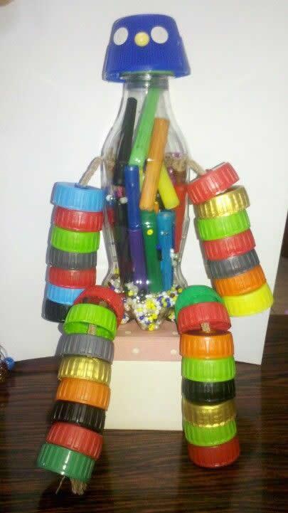 Brinquedos com Tampinhas de Garrafa PET