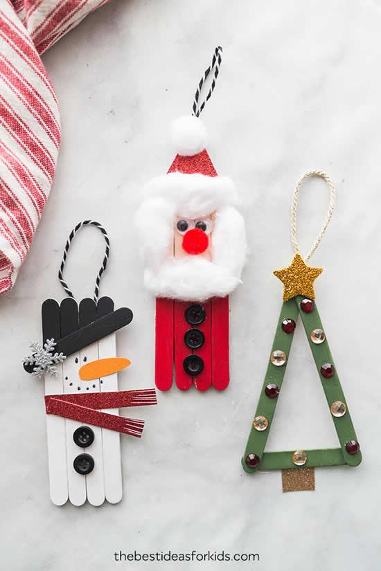 Decoração de Natal com palitos de picolé