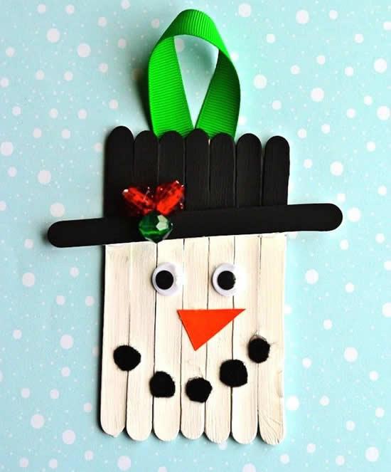 Decoração com palitos de picolé para o Natal