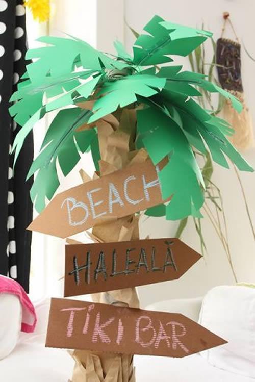 Enfeites de Papel para Festa Tropical