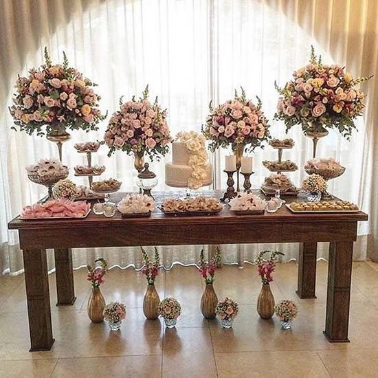 Decoração para Mesa de Casamento