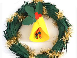 Guirlanda e Sinos de Natal com Papel Fácil de Fazer
