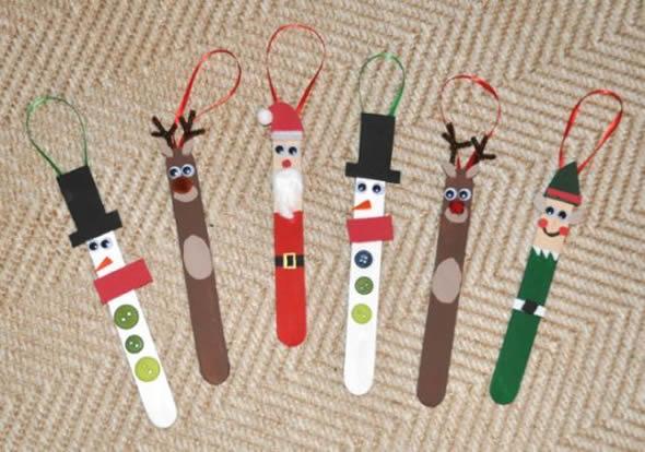 Enfeites de Natal com Palitos de Picolé