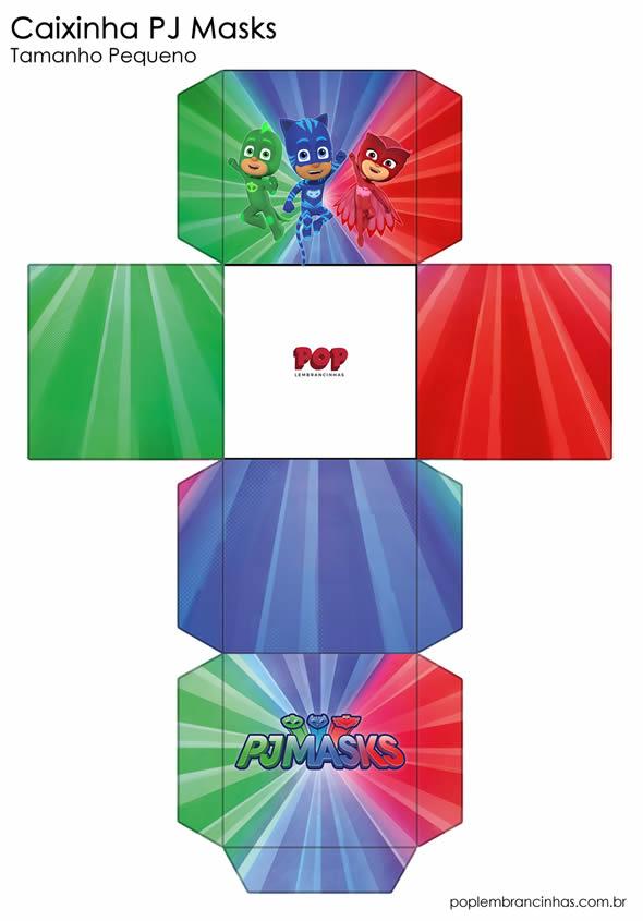 Moldes Grátis para Caixinhas PJ Masks