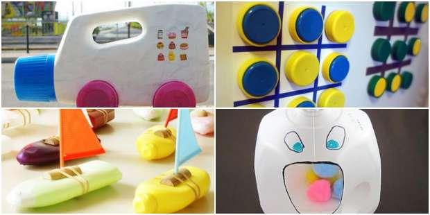 10 Brinquedos com Reciclagem para Dia das Crianças