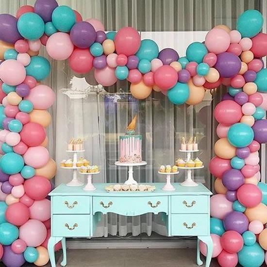 Decoração com Balões para Dia das Crianças