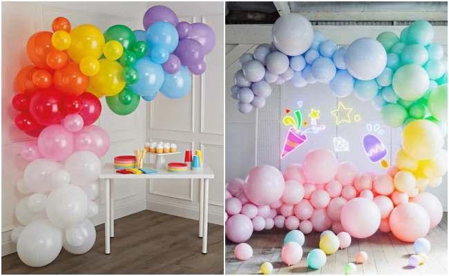 Decoração com balões para Dia das Crianças - Ideias e Sugestões