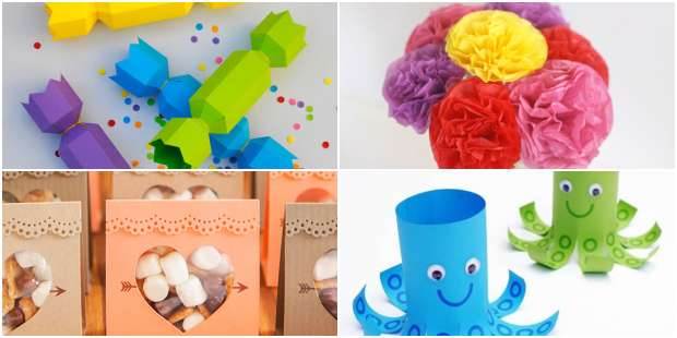 Lembrancinhas com Papel para Dia das Crianças
