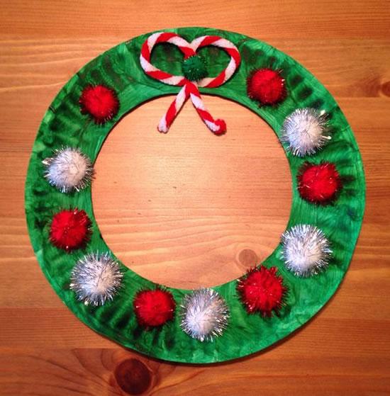Artesanatos para Natal com Pratos de Papelão