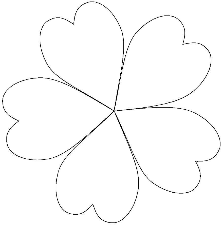Molde de pétalas de coração