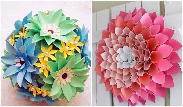 Flor de papel linda e simples para fazer em casa