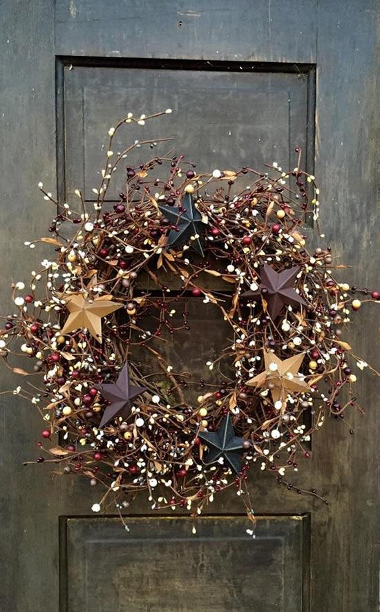 40 ideias de Guirlandas de Natal para Porta