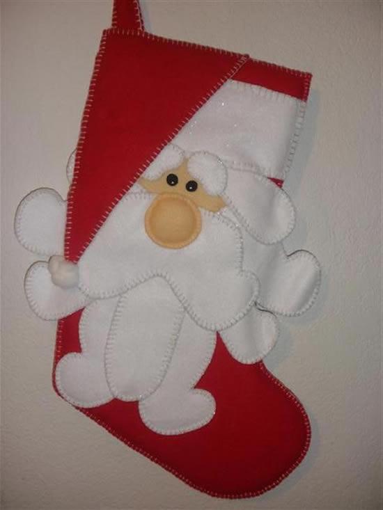 Papai Noel de Feltro com Moldes