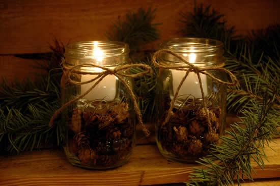 40 ideias para Potes Decorados de Natal