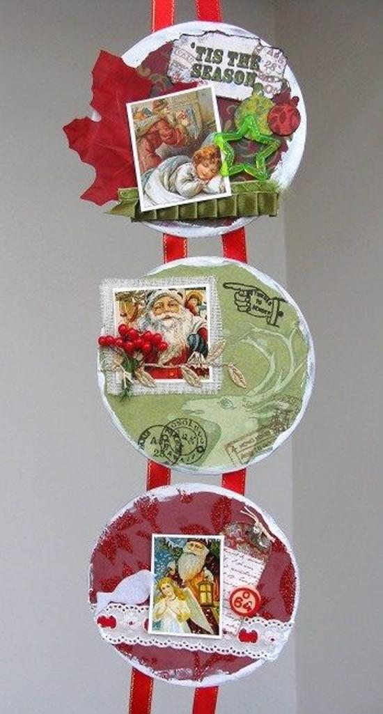 Artesanatos com CDs para Natal
