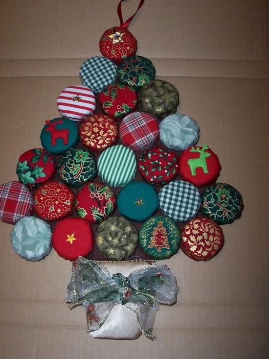 Artesanatos com Tampas de Garrafa para Natal