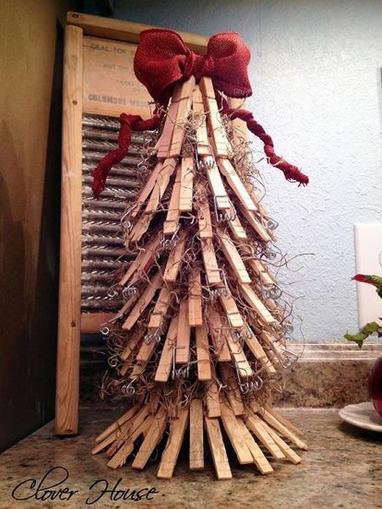 Decoração de Natal com Pregadores