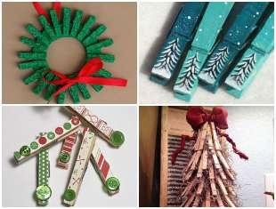 Artesanatos de Natal com Pregadores