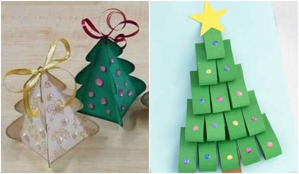 Árvores de Natal de papel