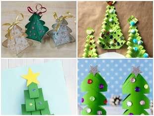 Árvore de Natal de Papel com Moldes