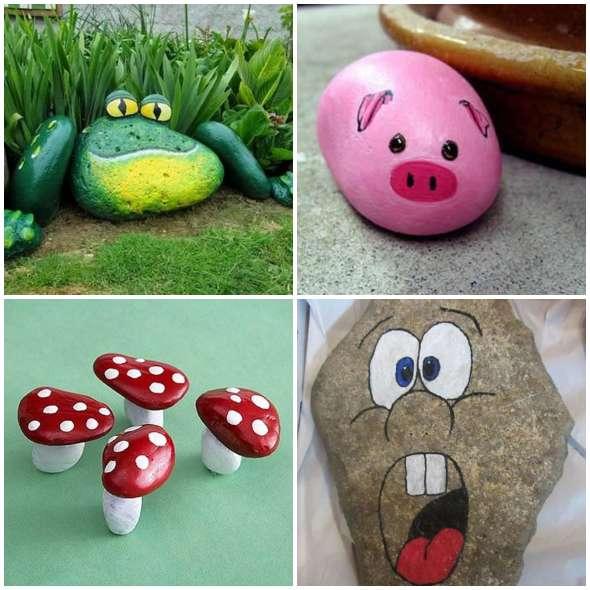 Artesanatos com Pedras para fazer com Crianças