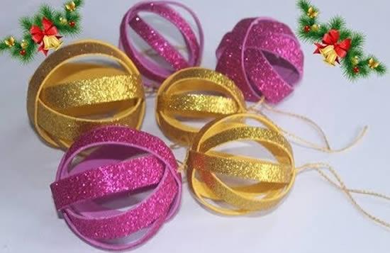 Como fazer Bolas de Natal Baratas