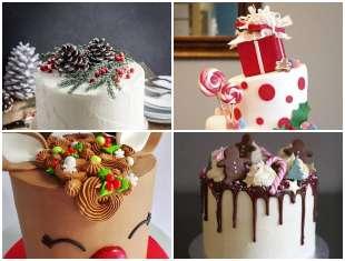 23 Exemplos Lindos de Bolos Decorados para Natal