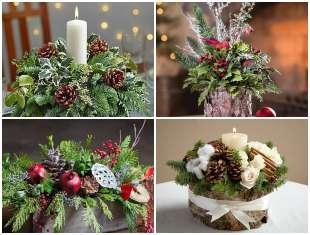 15 exemplos de Centros de Mesa para o Natal