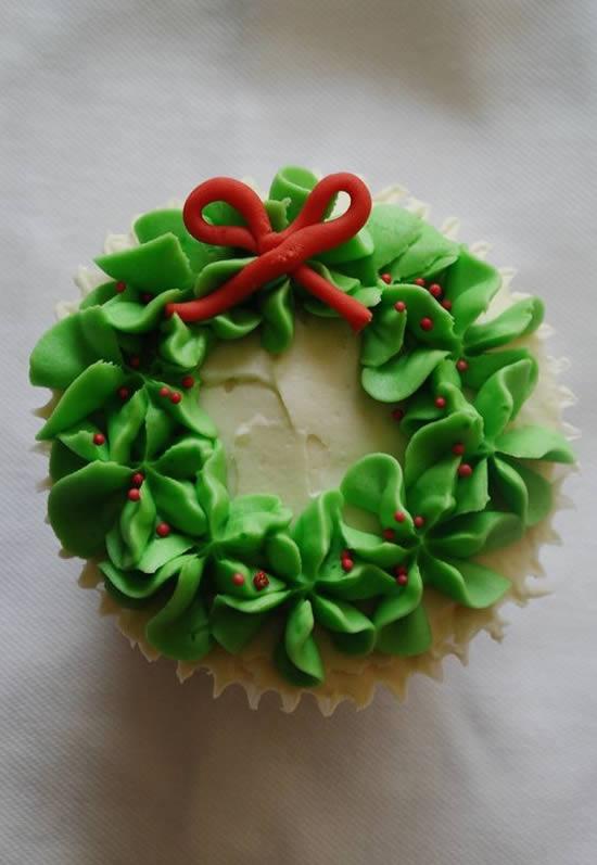 Cupcakes Decorados para o Natal
